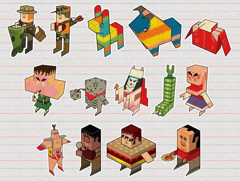 Paper-foldables-papercraft